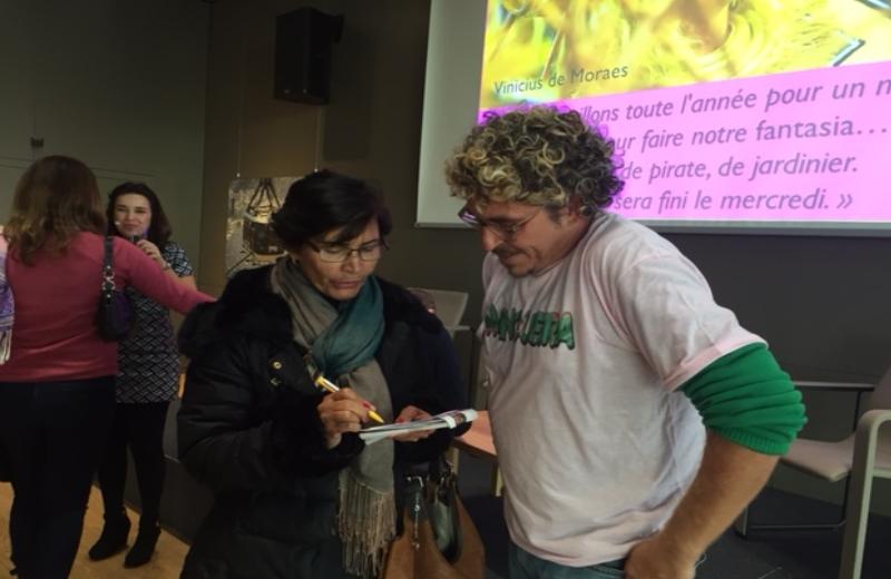 Ninna Crot entrevista Márcio Perrotta, diretor e organizador dos representantes da Mangueira na Suiça