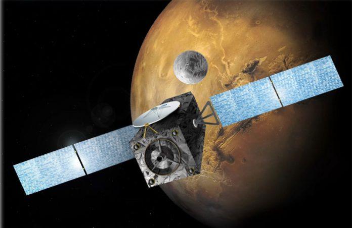 Exoras 2016 Liberará módulo de testes de pouso e uma sonda em Marte /Foto: divulgação|EXOMARS 2016 LIBERARÁ UM MÓDULO DE TESTES DE POUSO E UMA SONDA NA ÓRBITA DE MARTE (FOTO: DIVULGAÇÃO)
