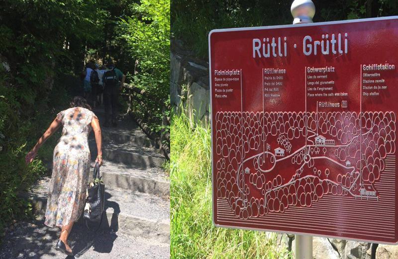 """Subindo o caminho da Grütli, na beira do lago """"Quatre-cantons"""" no estado de Uri/Foto: Ninna Crot"""