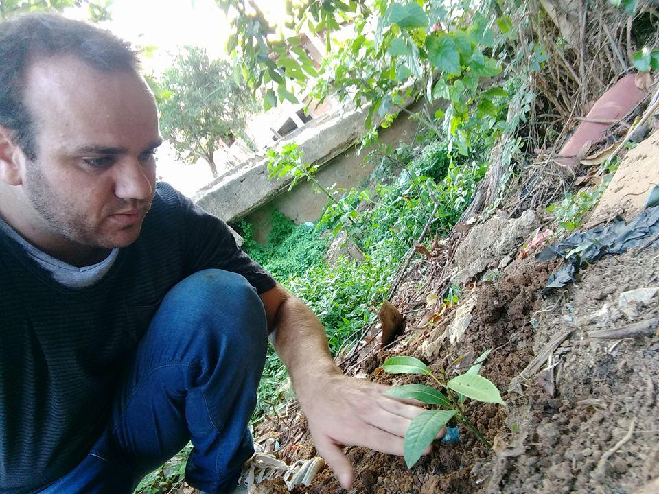 Vereador Getulinho plantando - Foto: divulgação