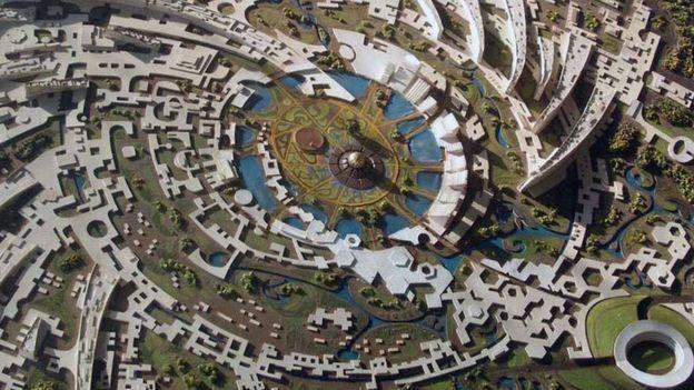 Auroville tem formato de uma galáxia - Foto: divulgação