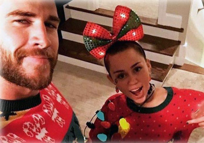 Liam Hemsworth com Miley Cyrus - Foto: reprodução / Instagram