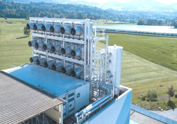 A Climerworks abriu a primeira planta de captura de CO2 numa instalação de recuperação de resíduos em Zurique
