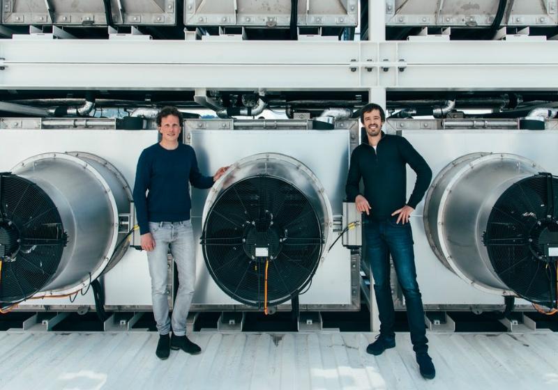 Christoph Gebald (à esquerda) e Jan Wurzbacher (à direita), co-fundadores da Climeworks -Foto: Julia Dunlop