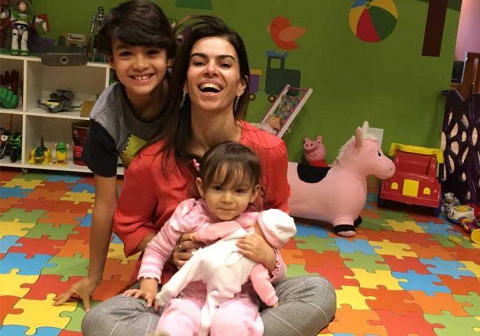 Fernanda Galvão e os filhos - Foto: arquivo pessoal||