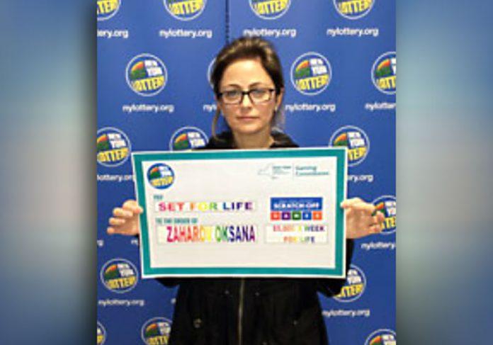 Oksana Zaharov - Foto: New York Lottery