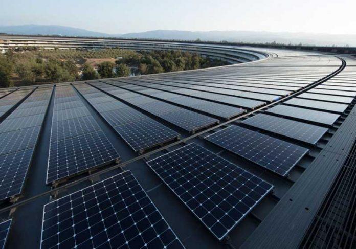 Novo escritório da Apple em Cupertino já é 100% abastecido por energia limpa Foto: Divulgação