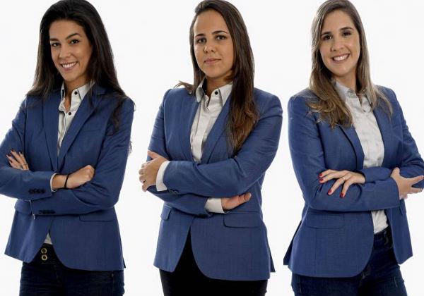 Renata Silveira, Isabelly Morais e Manuela Avena serão as primeiras mulheres a narrar um jogo da Copa do Mundo pela TV no Brasil (Fox/Divulgação)