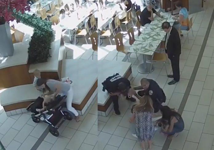 Fotos: reprodução / Câmeras de segurança do shopping Palm Beach Gardens