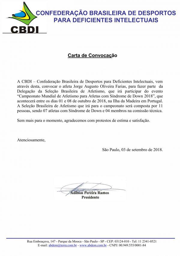Carta de convocação - Foto: reprodução / APAE-DF