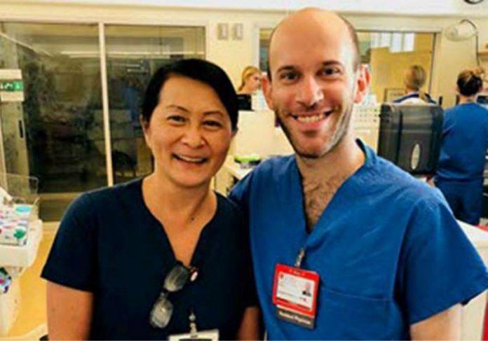 Vilma Wong e o Dr. Seminatore Foto: USA Today