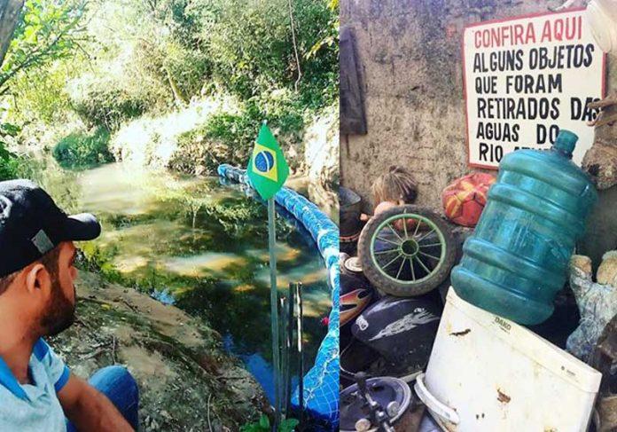 Fotos: arquivo pessoal Diego na ecobarreira - Foto: arquivo pessoal    