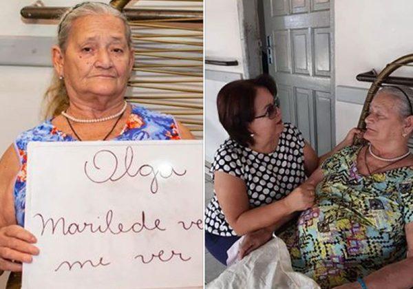 Dona Olga e Marilede - Fotos: reprodução / Facebook Stelita