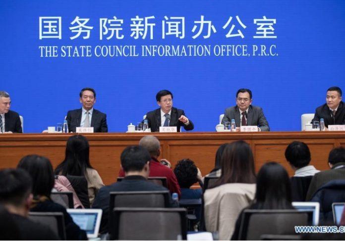 Coletiva da Agência Espacial Chinesa Foto: Reprodução Xinhua Net