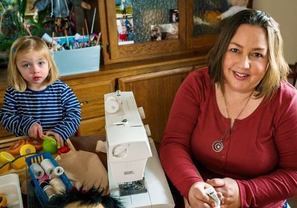 Amy no seu ateliê Foto: A Doll Like Me