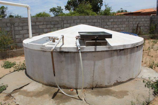 Aqualuz acoplado a cisterna - Foto: divulgação