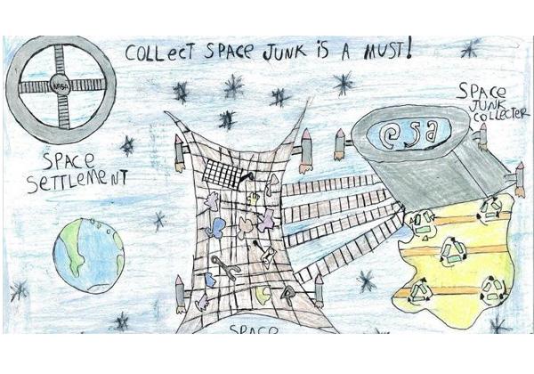 desenho vencedor no PRÊMIO da ESA