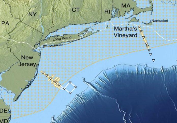 A localização do aquífero de 2.800 km³ na costa leste americana Foto: CIENTIFIC REPORTS