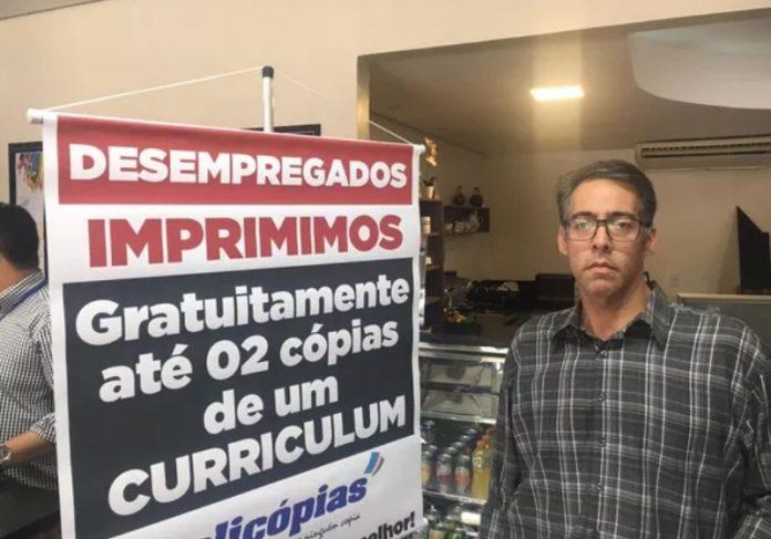 Foto: reprodução G1|Felipe Coelho aprovou a iniciativa da copiadora e postou na sua rede social Foto: reprodução