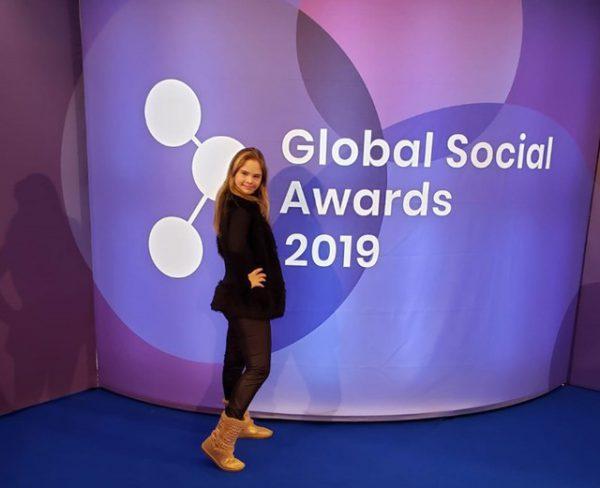 Geórgia no Global Social Awards, na República Tcheca - Foto: arquivo pessoal