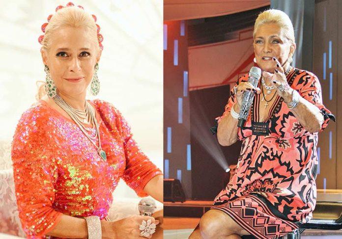 Andréa Beltrão e Hebe Camargo _ Fotos: divulgação /Wikipedia