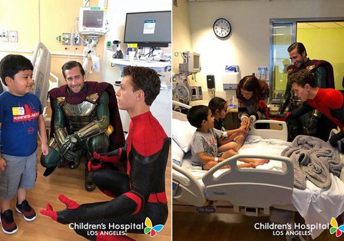 Visita dos atores - Fotos: Hospital Infantil de Los Angeles