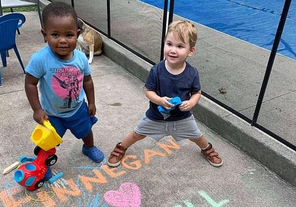 Maxwell (à esquerda) e Finnegan (à direita) são amigos' desde que se conheceram há mais de um ano Foto: Michael D Cisneros
