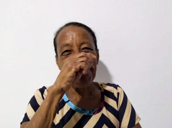 Dona Cris antes do tratamento - Foto: Ricardo Cayres