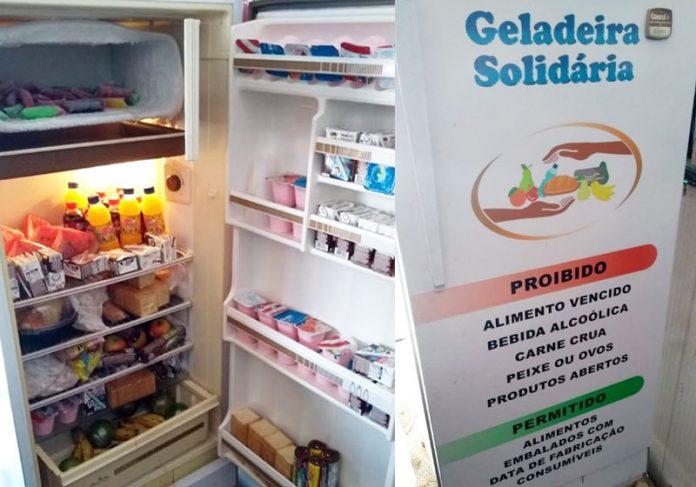 Geladeira Solidária de Varadouro - Fotos: divulgação|