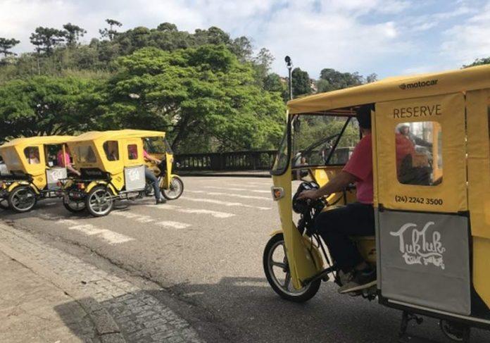 Tuk-Tuk em teste - Foto: Divulgação/Prefeitura de Petrópolis