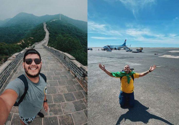 Anderson Dias na China e na África - Fotos: reprodução / Instagram @196sonhos