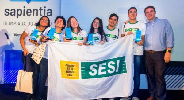 Os alunos vencedores do SESI/RN - Foto: divulgação/CNI