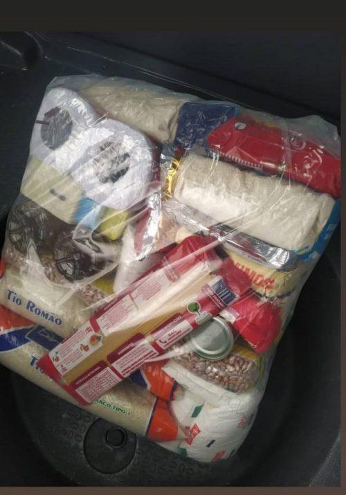 A cesta entregue - Foto: divulgação PM