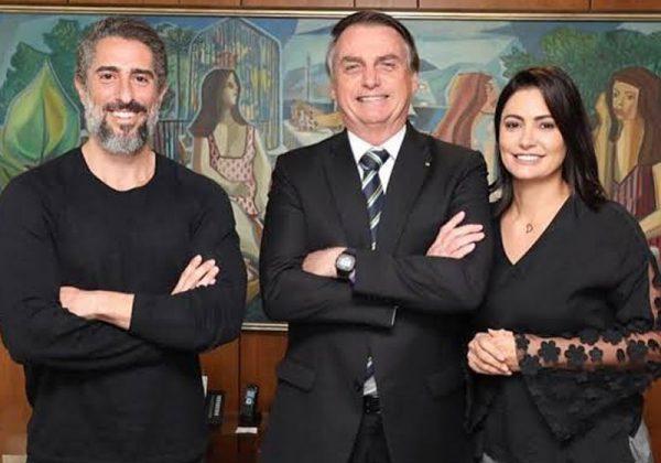 Mion, Jair e Michele Bolsonaro - Foto: reprodução/ Twitter