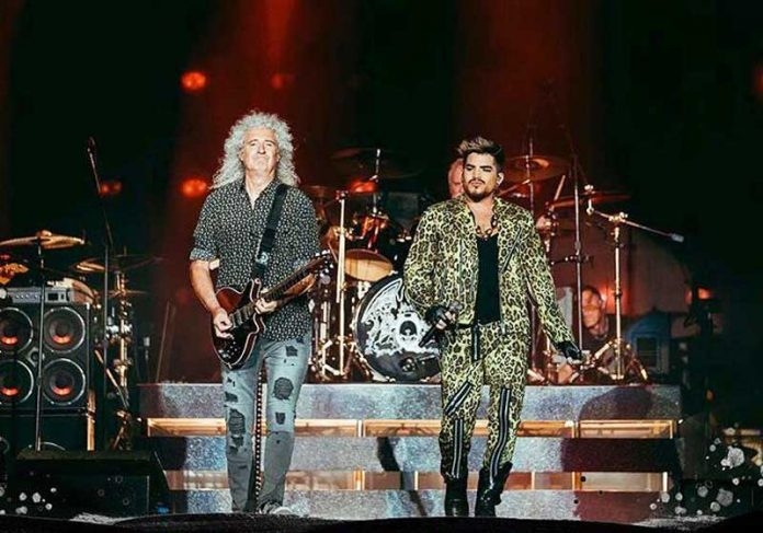 Queen + Adam Lambert no Fire Fight Austalia - Foto: reprodução / Queen Queen + Adam Lambert - Foto: reprodução / Youtube / Fire Fight Australia
