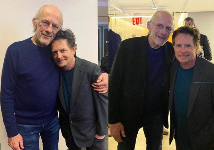 Michael J. Fox e Christopher Lloyd - Fotos: reprodução / Instagram 