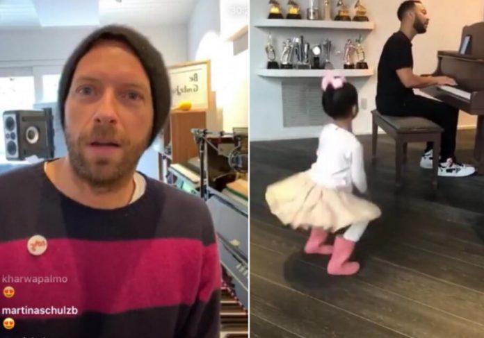 Martin fez transmissão e Legend mostrou a família Foto: reprodução Instagram