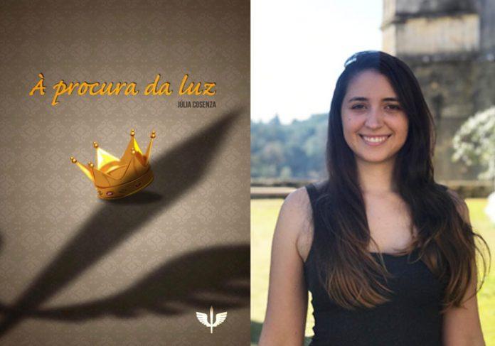 Capa do livro e a autora Júlia Cosenza - Fotos: divulgação