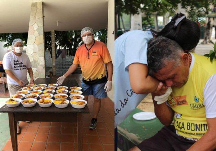 Produção e distribuição das quentinhas em Fortaleza - Fotos: Casa da Caridade||