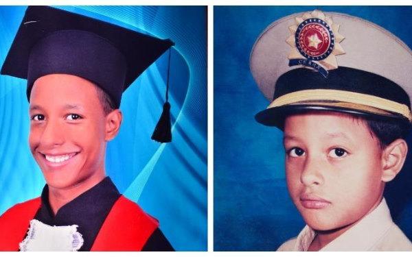 Os irmãos ainda separados na época de escola Foto: Arquivo Pessoal