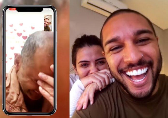 Avô, Bruna e Lucas Lira - Foto: reprodução / Youtube