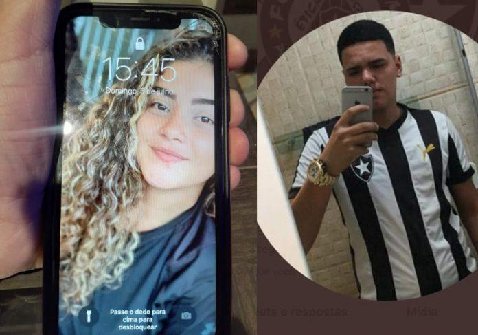 O telefone e o rapaz que devolveu - Fotos: reprodução / Twitter
