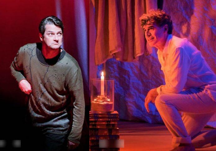 Marcelo Serrado e Paulo Betti em cena - Fotos: reprodução/ Teatro PetraGold