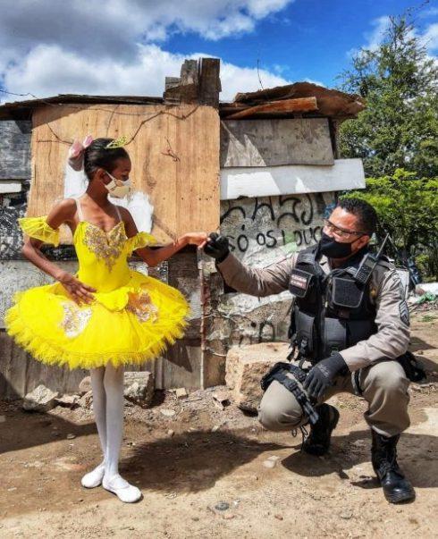 Raíssa com o sargento Rômulo - Foto: arquivo pessoal