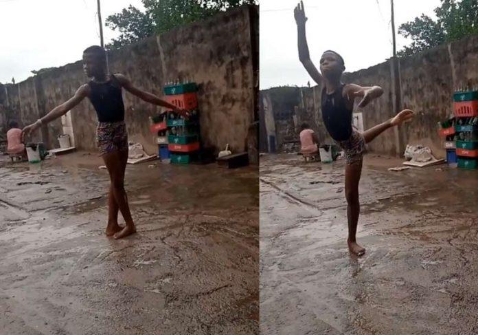 Anthony dançando descalço na chuva - Fotos: Instagram