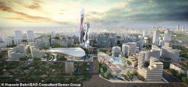 Projeto de Wakanda Akon City - Foto: Hussein Bakri/BAD Consultant/SemerGroup