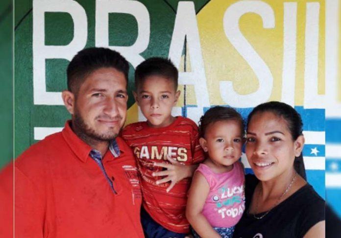 Jonathan e a família, acolhidos em SP - Foto: @refugio343