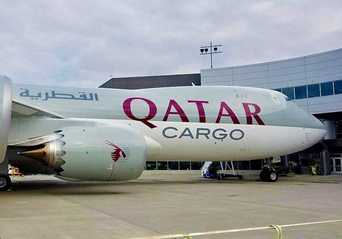 Avião de carga da Qatar - Foto: Qatar Cargo