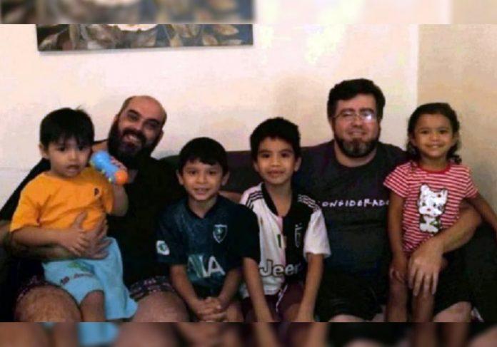 Rafael, Pedro e os filhos - Foto: arquivo pessoal