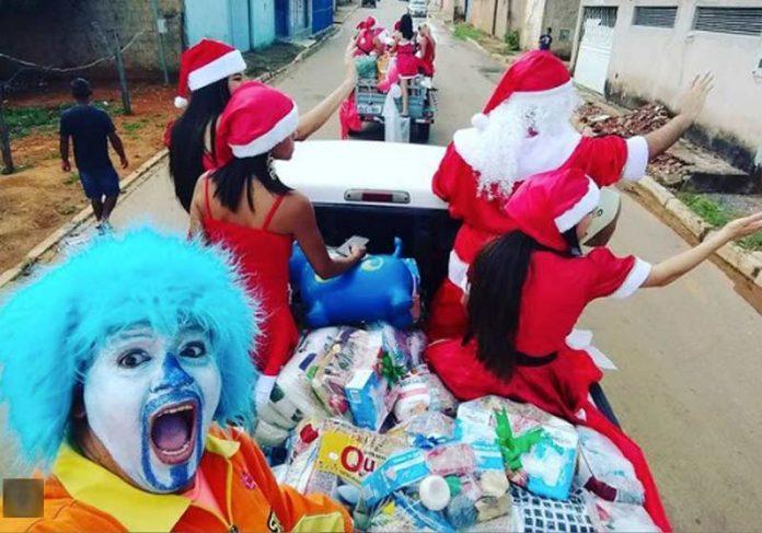 Palhaço Psiu no Natal de 2018 - Foto: reprodução / Instagram